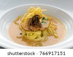egg noodle in chicken curry | Shutterstock . vector #766917151