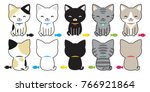cat breed kitten fish cat toy... | Shutterstock .eps vector #766921864