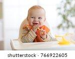 happy baby kid boy waiting for... | Shutterstock . vector #766922605