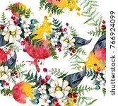 bouquet flower pattern in a... | Shutterstock . vector #766924099