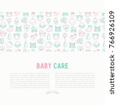 baby care concept with thin... | Shutterstock .eps vector #766926109