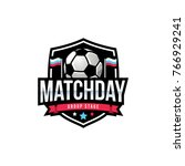 match day soccer logo  american ...   Shutterstock .eps vector #766929241