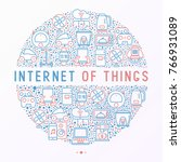 internet of things concept in... | Shutterstock .eps vector #766931089