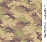 seamless camouflage pattern.... | Shutterstock .eps vector #766932271