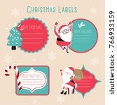 christmas labels and decoration | Shutterstock .eps vector #766933159