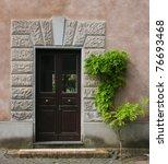 beautiful vintage door  italy | Shutterstock . vector #76693468