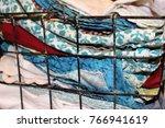 miscellaneous cloth napkins in... | Shutterstock . vector #766941619