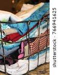 miscellaneous cloth napkins in... | Shutterstock . vector #766941625