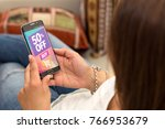 promotion  special offer in a... | Shutterstock . vector #766953679