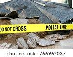 police line do not cross  on... | Shutterstock . vector #766962037