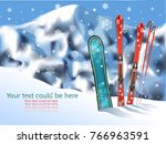 blurred background of mountain... | Shutterstock .eps vector #766963591