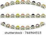angel sing song design border | Shutterstock .eps vector #766964515