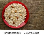 muesli with nuts. muesli on a... | Shutterstock . vector #766968205