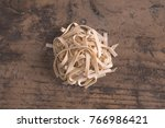 hand made tagliatelle typical... | Shutterstock . vector #766986421