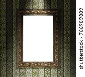 mock up 3d vintage frame... | Shutterstock . vector #766989889