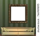 mock up 3d vintage frame... | Shutterstock . vector #766989895
