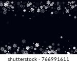 falling christmas snow on black.... | Shutterstock .eps vector #766991611