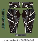 leggings pants fashion vector... | Shutterstock .eps vector #767006344