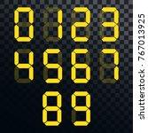 calculator digital numbers.... | Shutterstock .eps vector #767013925