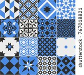seamless pattern of tiles.... | Shutterstock .eps vector #767018821