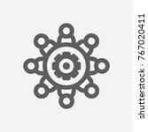 workshop icon line symbol.... | Shutterstock .eps vector #767020411