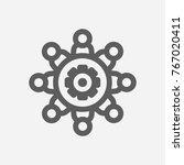 workshop icon line symbol.... | Shutterstock .eps vector #767020411