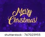 merry christmas wallpaper   Shutterstock . vector #767025955