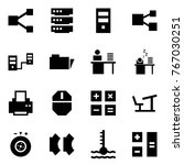 origami style icon set   share... | Shutterstock .eps vector #767030251