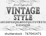font alphabet handcrafted... | Shutterstock .eps vector #767041471