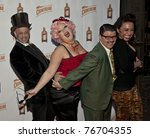 NEW YORK - MAY 05: Guest, Dirty Martini, Murray Hill and Angie Pontani attend launch of Dita Von Teese new signature cocktail 'The Cointreau MargaDita' at Los Feliz restaurant on May 05, 2011 in New York City, NY - stock photo
