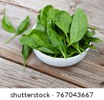 detox product. fresh spinach... | Shutterstock . vector #767043667