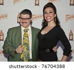 NEW YORK - MAY 05: Burlesque artists Murray Hill, Angie Pontini attend launch of Dita Von Teese new signature cocktail 'The Cointreau MargaDita' at Los Feliz restaurant on May 05, 2011 in New York City, NY - stock photo