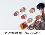 flat lay beautiful modern...   Shutterstock . vector #767046244