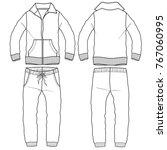 tracksuit man boy garment... | Shutterstock .eps vector #767060995