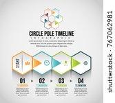vector illustration of hexagon... | Shutterstock .eps vector #767062981