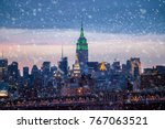 Snow Falling Down In New York...