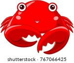 illustration of cute red crab | Shutterstock .eps vector #767066425