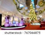 bokeh christmas decoration... | Shutterstock . vector #767066875