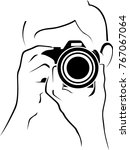 icon of photographer | Shutterstock .eps vector #767067064