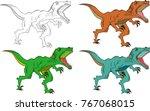 illustration of angry dinosaur... | Shutterstock . vector #767068015