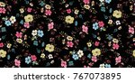 seamless floral pattern in... | Shutterstock .eps vector #767073895