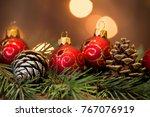 christmas decoration background   Shutterstock . vector #767076919