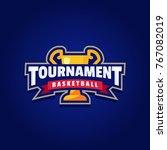 basketball tournament logo sport | Shutterstock .eps vector #767082019