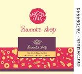 design template card  logo ... | Shutterstock .eps vector #767084941