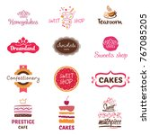 set of logo for confectionery ... | Shutterstock .eps vector #767085205