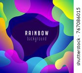 abstract rainbow background.... | Shutterstock .eps vector #767086015