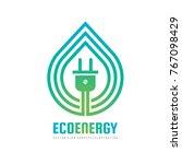 eco energy   concept logo... | Shutterstock .eps vector #767098429