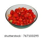 Ripe Berries Of Wild Strawberr...