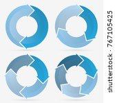info template pie charts blue... | Shutterstock .eps vector #767105425