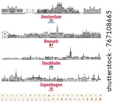vector set of amsterdam ... | Shutterstock .eps vector #767108665
